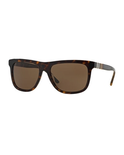Men's Rectangular Sunglasses by Burberry in Ballers