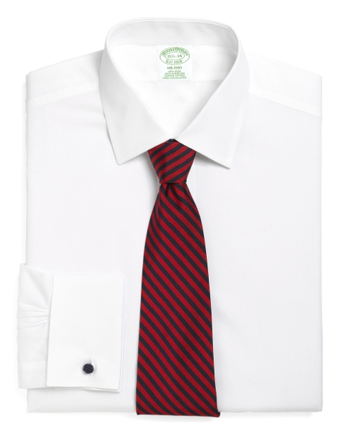 Milano Fit French Cuff Dress Shirt by Brooks Brothers in Self/Less