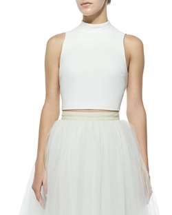 Avita Cropped Ponte Top by Elizabeth & James in Scream Queens
