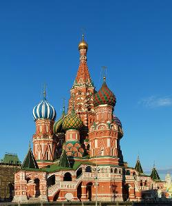 Moscow, Russia by Saint Basil's Cathedral in A Good Day to Die Hard