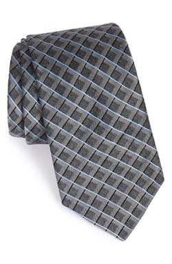 'Heather' Check Silk Blend Tie by Michael Kors in Elementary