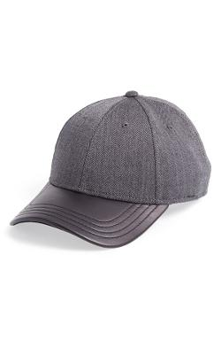 Leather Brim Tweed Baseball Cap by Gents in The Other Woman