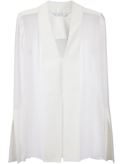 Sheer V-Neck Blouse by Dion Lee in The Good Wife