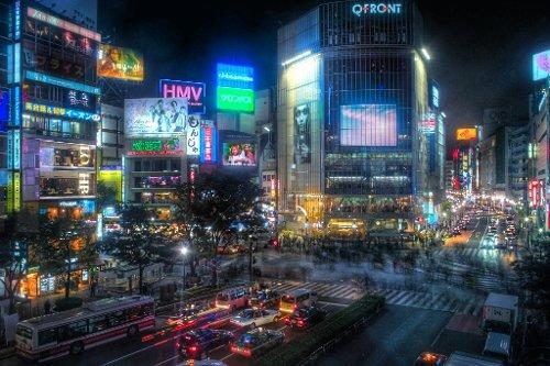 Shibuya Tokyo, Japan in Fast & Furious 6