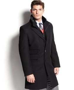 Wool-Blend Faux Fur Trim Over Coat by Michael Kors in Sherlock Holmes: A Game of Shadows