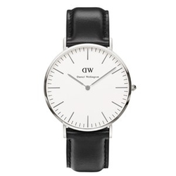 Classic Sheffield Silver Watch by Daniel Wellington in Vacation