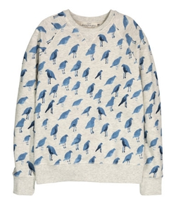 Patterned Sweatshirt by H&M in New Girl