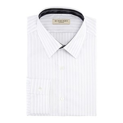 Contrast-Trim Striped Dress Shirt by Burberry in The Blacklist
