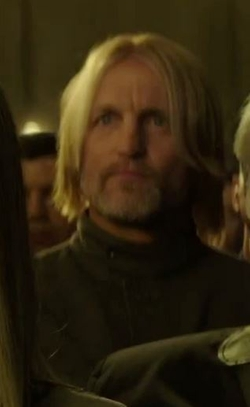Custom Made Coverall (Haymitch Abernathy) by Kurt and Bart (Costume Designer) in The Hunger Games: Mockingjay - Part 2
