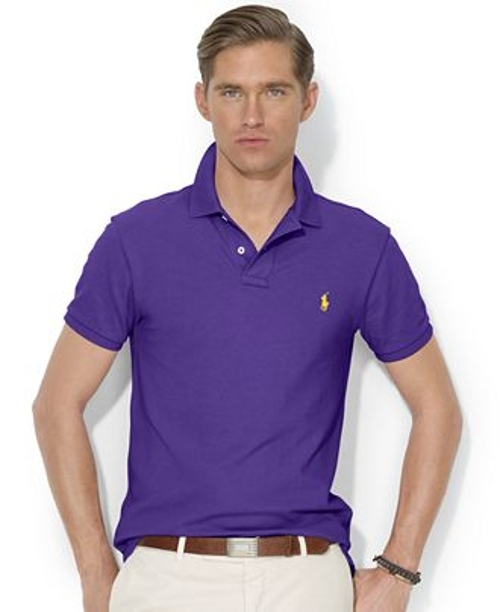 Solid Slim-Fit Mesh Polo by Polo Ralph Lauren in Get Hard