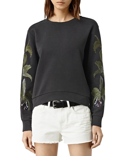 Anya Embroidered Sweatshirt by All Saints in Pretty Little Liars