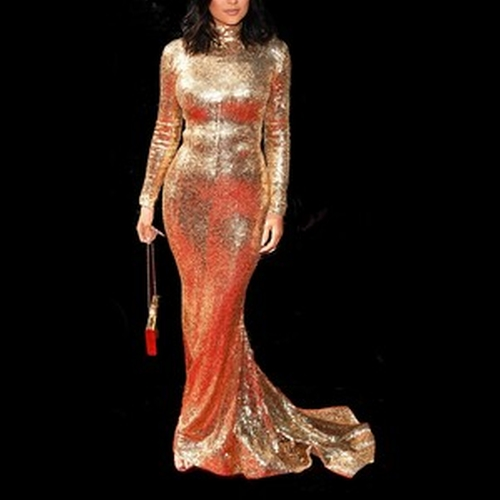 Sequin Mermaid Gown by Shady Zeineldine in Keeping Up With The Kardashians - Season 11 Episode 1