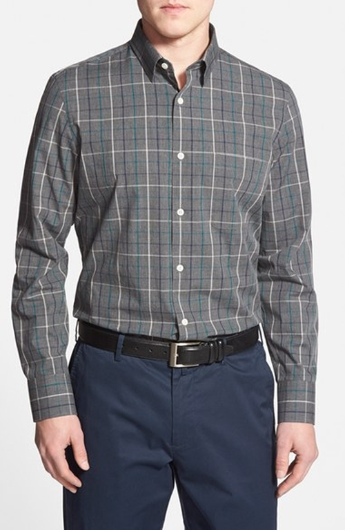 Windowpane Plaid Sport Shirt by John W. Nordstrom in Master of None - Season 1 Episode 4