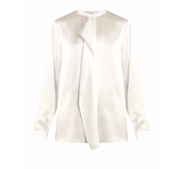 Goldie Ruffled Silk-Satin Blouse by Stella Mccartney in Power