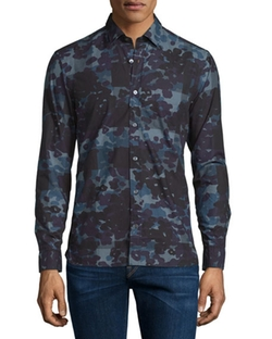 Alden Multi Camo-Print Sport Shirt by Burberry Brit in Barbershop: The Next Cut