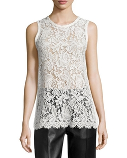 Helena Sleeveless Lace Tunic Top by Iro in Keeping Up With The Kardashians