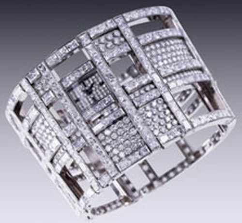 """""""Cosmos""""  White Gold And Diamonds Watch by Chanel in Atonement"""
