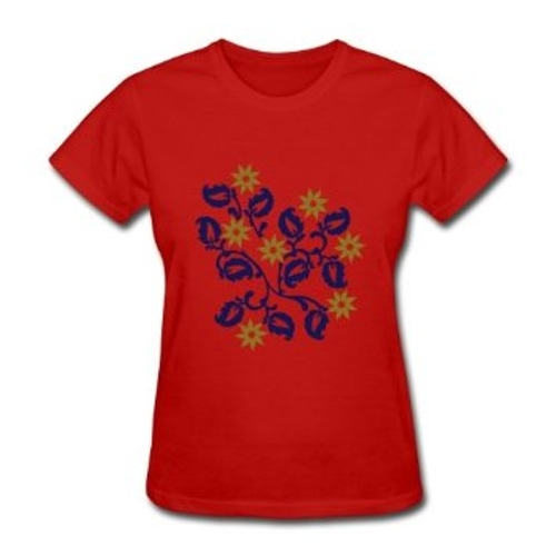 Floral Bush Custom T-Shirt by Laaylor in Barely Lethal