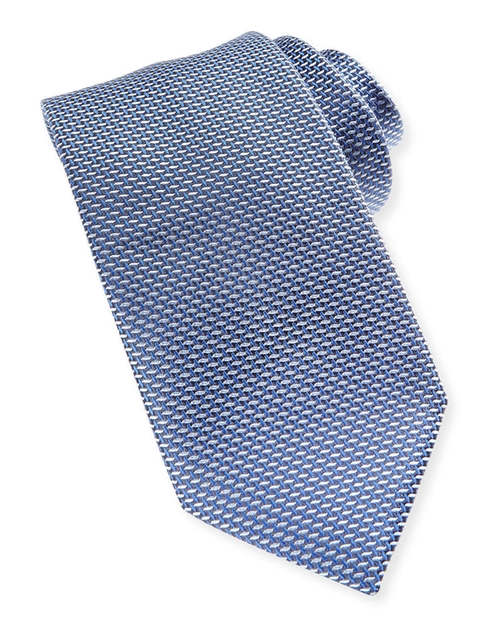 Woven Iridescent Microneat Tie by Brioni in Suits - Season 5 Episode 6