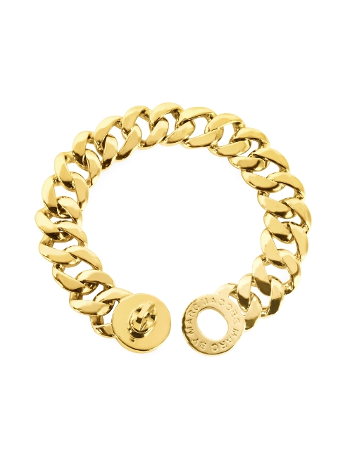 Turnlock Golden Brass Katie Bracelet by Marc by Marc Jacobs in Dope