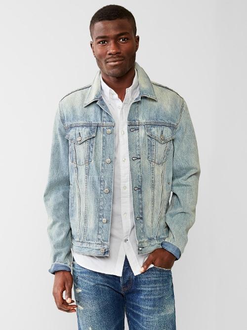 Heritage Denim Jacket by Gap in Dope