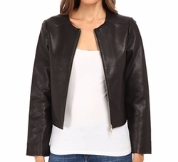 Zip-Up Leather Jacket by Kate Spade New York in Unbreakable Kimmy Schmidt