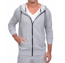 Terry Zip-Up Hoodie by 2xist in Love, Rosie