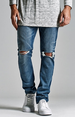 Ripped Stacked Skinny Jeans by Bullhead Denim Co. in Wet Hot American Summer