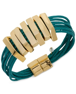 Geometric Bead Teal Cord Bracelet by Kenneth Cole New York in Insidious: Chapter 3