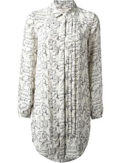 Key Print Blouse Dress by Tory Burch in The Mindy Project