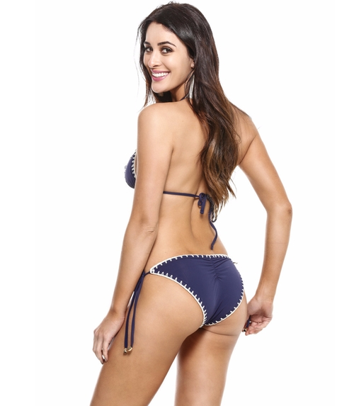 Crochet Stitching Brazilian Cut Bikini Bottom by Guria Beachwear in The Bachelorette - Season 12 Episode 7