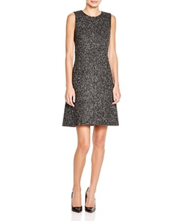 Raneid Tweed Shift Dress by Theory in Scandal