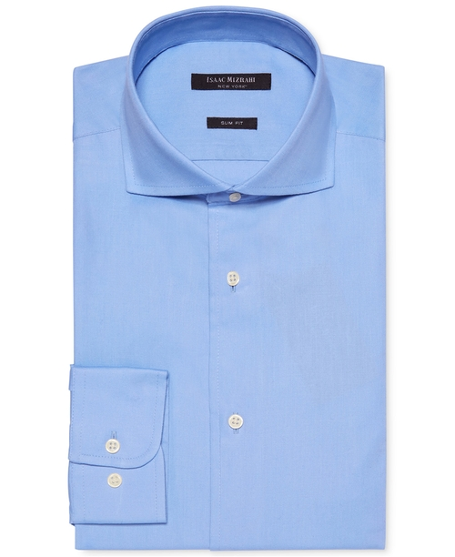 Pique Dobby Solid Dress Shirt by Isaac Mizrahi in Side Effects
