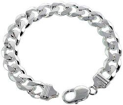 Sterling Silver Italian Curb Chain Necklaces & Bracelets by Sabrina Silver in A Walk Among The Tombstones