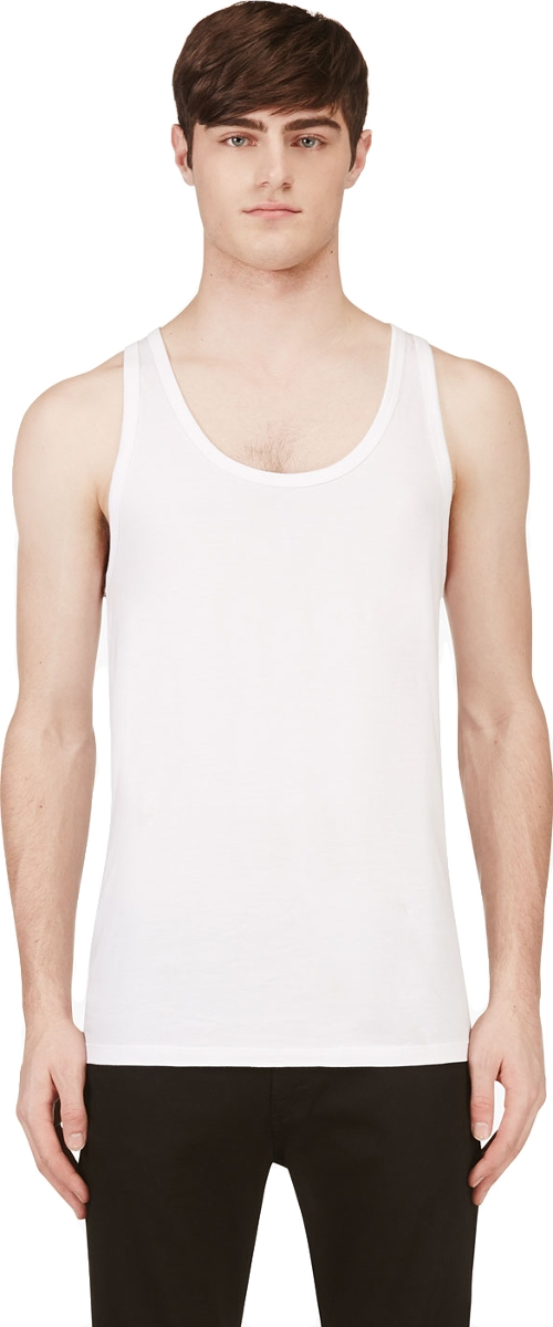 White Cotton Tank Top by Calvin Klein in No Escape