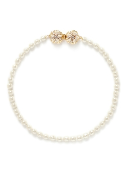 Crystal Floral Filigree Baroque Pearl Necklace by Miriam Haskell in Scandal