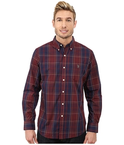 Cotton Poplin Plaid Shirt by U.S. Polo Assn. in MacGyver