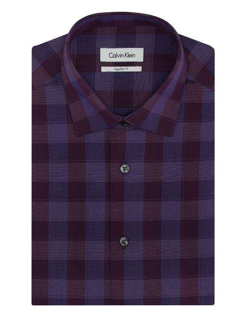 Chintz Plaid Check Regular Fit Dress Shirt by Calvin Klein in A Walk Among The Tombstones