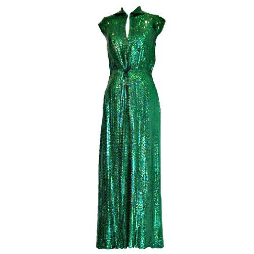 Emerald Green Sequin Gown by Halston in Sex and the City 2