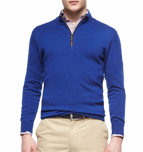 Quarter-Zip Pullover Sweater by Peter Millar in The Boss