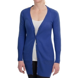 Long Fitted Cashmere Cardigan by Brodie in Grace and Frankie