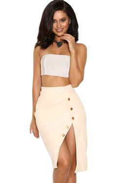 'Lelisa' Panelled Bandage Bandeau Top by House Of CB in Keeping Up With The Kardashians