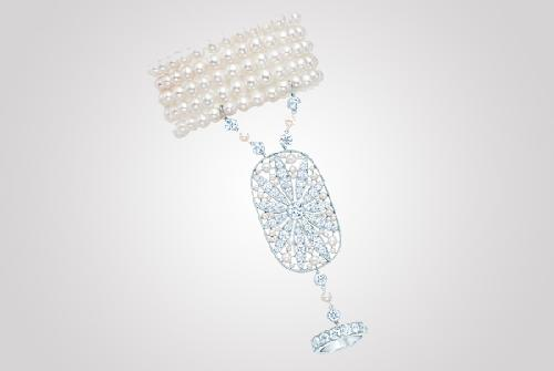 Daisy Hand Ornament Jewelry by Tiffany and Co. in The Great Gatsby