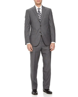 Two-Piece Neat Wool Suit by Neiman Marcus in Ballers