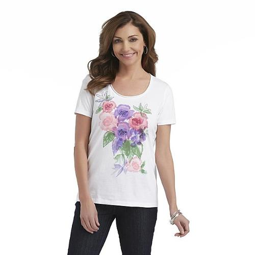 Women's Scoop Neck Graphic T-Shirt by Laura Scott in Laggies