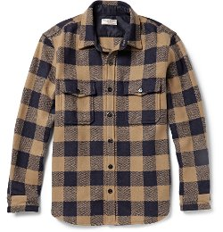Buffalo Checked Wool-Blend Overshirt by J.Crew in That Awkward Moment