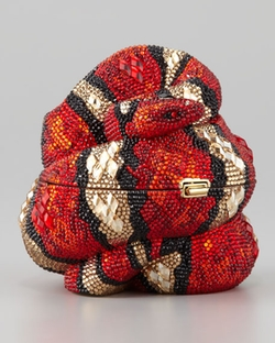 Year of the Snake Clutch Bag by Judith Leiber in Empire