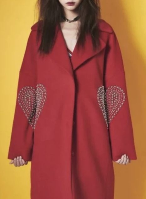 FW15 Red Coat by Kye in Empire