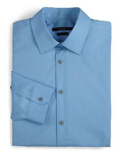 Regular-Fit Solid Dress Shirt by Gucci in Pitch Perfect 2