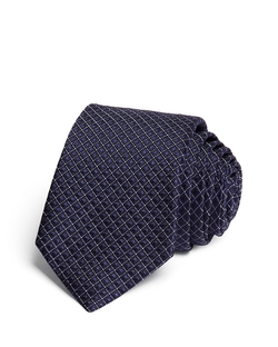 Satin Grid Skinny Tie by Theory in Suits